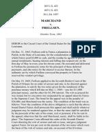 Marchand v. Frellsen, 105 U.S. 423 (1882)