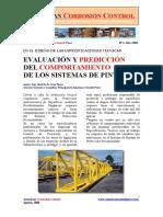 Evaluación y Predicción del Comportamiento de los sistemas de pintado