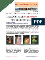 Mecanismos de control de corrosion por microorganismos