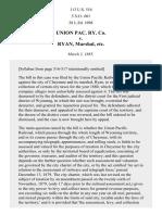 Union Pacific R. Co. v. Cheyenne, 113 U.S. 516 (1885)
