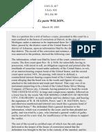 Ex Parte Wilson, 114 U.S. 417 (1885)