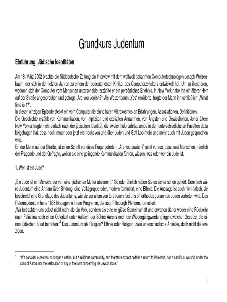 Grundkurs Judentum