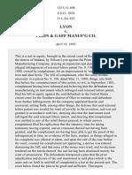 Lyon v. Perin & Gaff Mfg. Co., 125 U.S. 698 (1888)
