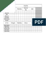 Tabela Notas