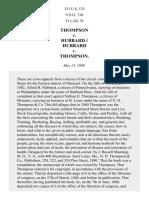 Thompson v. Hubbard, 131 U.S. 123 (1889)