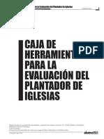 Caja de Herramientas Para La Evaluación Del Plantador de Iglesias