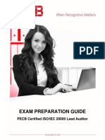 Pecb Iso 20000 Lead Auditor Exam Preparation Guide