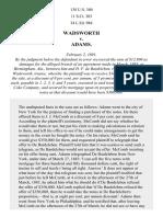 Wadsworth v. Adams, 138 U.S. 380 (1891)