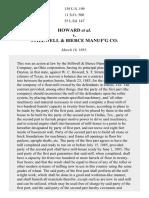 Howard v. Stillwell & Bierce Mfg. Co., 139 U.S. 199 (1891)