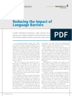 reducing impact of language barriers