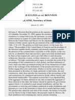 United States Ex Rel. Boynton v. Blaine, 139 U.S. 306 (1891)