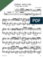 Weeping Willow - Scott Joplin - Sheet Music