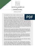 The Sylvia Handy v. United States, 143 U.S. 513 (1892)
