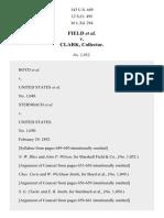 Field v. Clark, 143 U.S. 649 (1892)