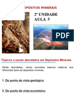 Aula 5 - Depósitos Minerais - Conceitos Gerais.
