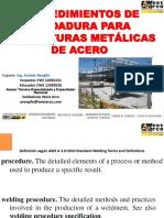 Procedimientos Procedimientos de Soldadura para Estructuras Metálicas de Acero.pdfde Soldadura Para Estructuras Metálicas de Acero