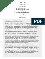 Hollender v. Magone, 149 U.S. 586 (1893)
