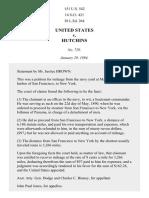 United States v. Hutchins, 151 U.S. 542 (1894)