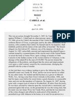 West v. Cabell, 153 U.S. 78 (1894)