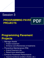 Session 3 - Programming Pavement Projects