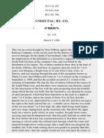 Union Pac. Ry. Co. v. O'Brien, 161 U.S. 451 (1896)
