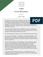 Lowe v. Kansas, 163 U.S. 81 (1896)