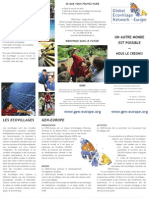 Europe Global Eco Village Network - Leaflet, French