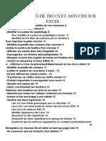Excel Compilation de Trucs Et Astuces Sur Excel
