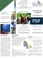 Europe Global Eco Village Network - Leaflet, German