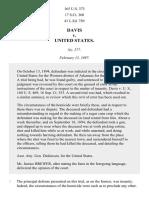 Davis v. United States, 165 U.S. 373 (1897)
