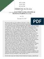 NO. PAC. RAILROAD v. Musser-Sauntry Co., 168 U.S. 604 (1898)