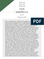 Payne v. Robertson, 169 U.S. 323 (1898)