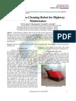 Autonomous Cleaning Robot for Highway Maintenance
