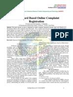 Smart Card Based Online Complaint Registration