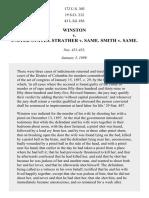 Winston v. United States. Strather v. Same. Smith v. Same, 172 U.S. 303 (1899)