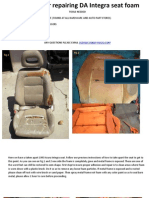 Acura DA Seat Foam Repair1