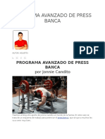 Programa Avanzado de Press Banca