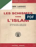 Laoust Henri - Les Schismes Dans l'Islam
