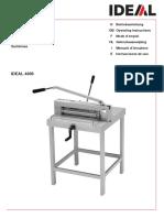 Manual Guillotina Ideal 4305