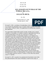 Pythias Knights' Supreme Lodge v. Beck, 181 U.S. 49 (1901)