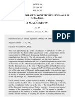 American School of Magnetic Healing and J. H. Kelly, Appts. v. J. M. McAnnulty, 187 U.S. 94 (1902)