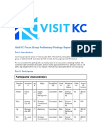 visit kc focus group preliminary findings report