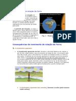 O Movimento de Rotação Da Terra F.Q.7º ANO