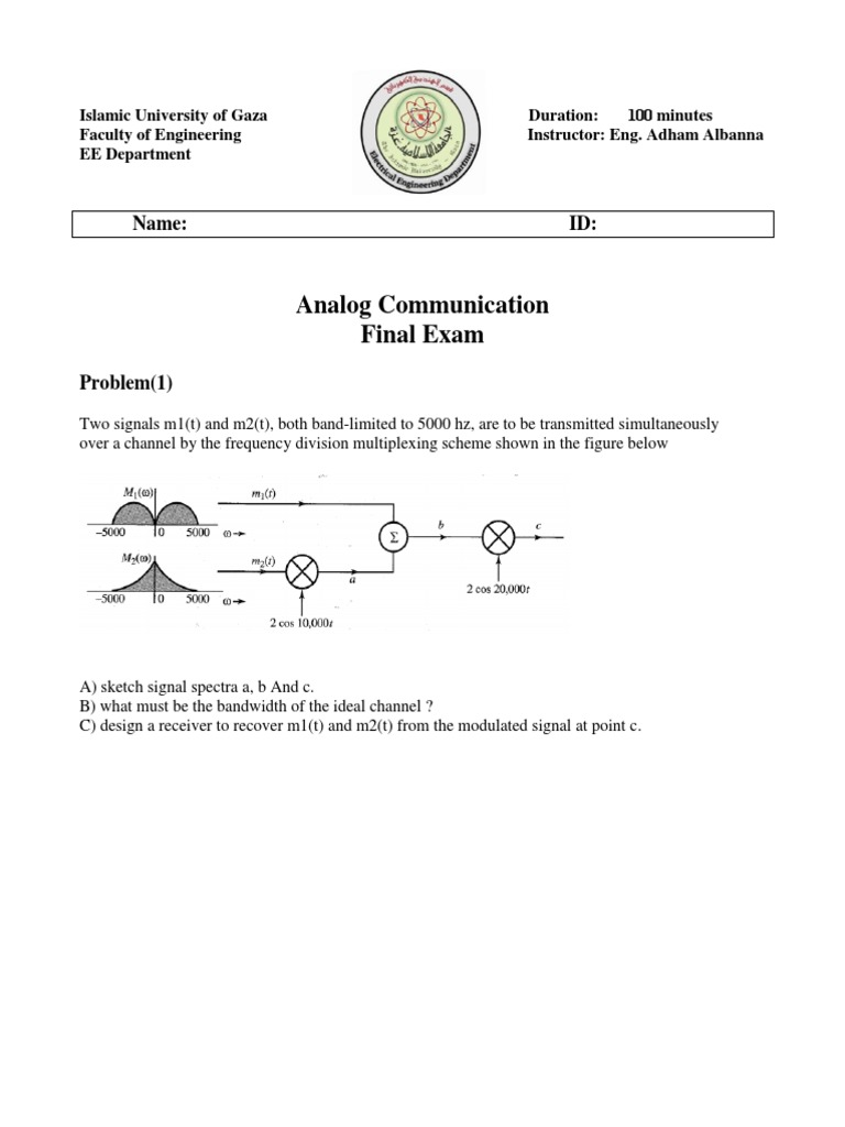 Analog communication Exam