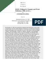 Reuben Hodges, William R. Clampit, and Wash McKinney Plffs. In Err. v. United States, 203 U.S. 1 (1906)