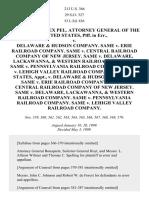 United States Ex Rel. Attorney General v. Delaware & Hudson Co., 213 U.S. 366 (1909)