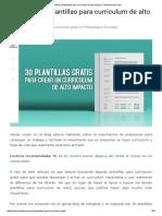 (GRATIS) 30 Plantillas Para Curriculum de Alto Impacto - Mclanfranconi