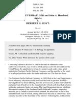 Weyerhaeuser v. Hoyt, 219 U.S. 380 (1911)