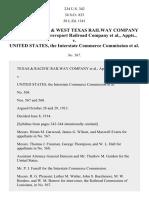 Houston & Texas Ry. v. United States, 234 U.S. 342 (1914)