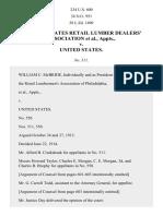Eastern States Lumber Ass'n v. United States, 234 U.S. 600 (1914)